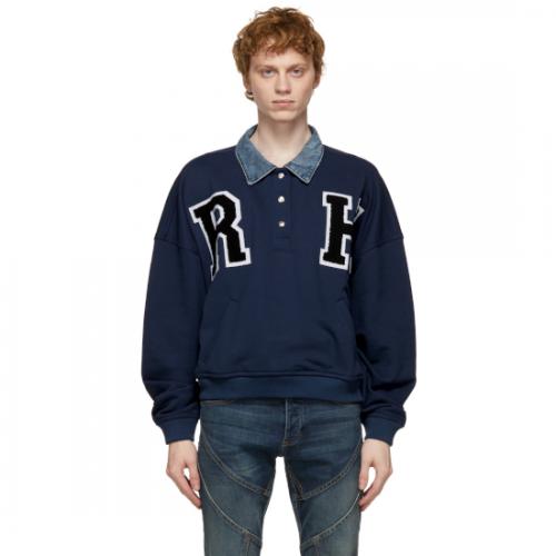 RHUDE 【ルード】 Blue Collegiate Sweatshirt RHPS2P00001