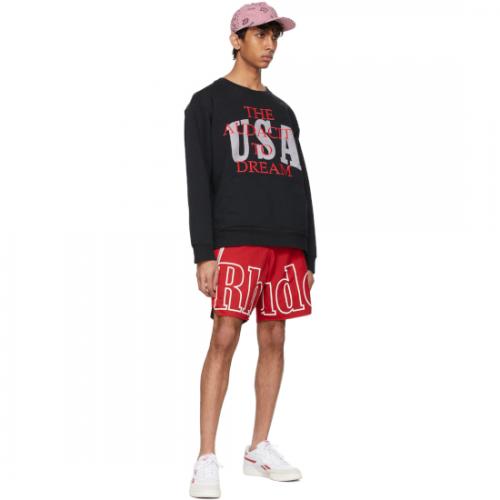 RHUDE【ルード】Black Dreamers Crew Sweatshirt RHPS21SW0001