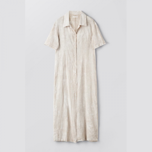 OUR LEGACY【アワーレガシー】NARROW SHIRT DRESS WHITE COATED COTTON LINEN (W2217NWW)