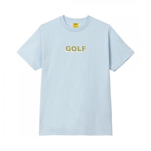 GOLF WANG 【ゴルフワン】 3D LOGO TEE BLUE (3DLOGOTEE)