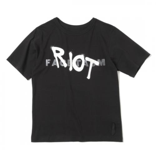 RIOT FACETASM 【ライオット ファセッタズム】 RIOT LOGO Tシャツ BLACK (RF-TEE-U01)