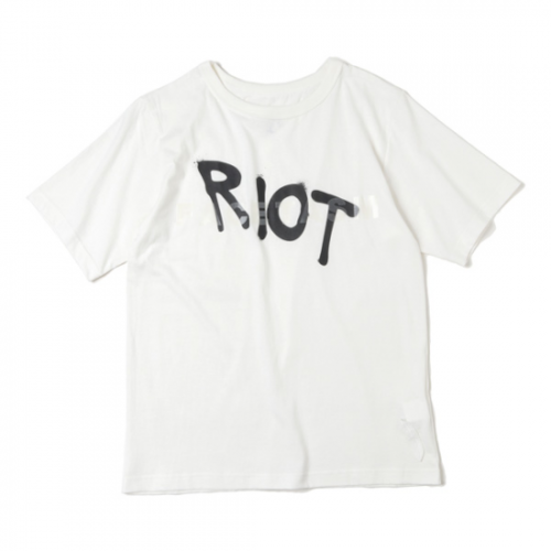 RIOT FACETASM 【ライオット ファセッタズム】 RIOT LOGO Tシャツ WHITE (RF-TEE-U01)