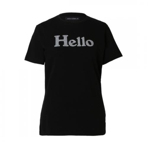 MADISONBLUE 【マディソンブルー】 HELLO CREW NECK TEE BLACK (MB999-7716)