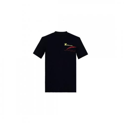 YUKI HASHIMOTO 【ユウキハシモト】 REGULAR FIT BLACK INTELLIGENCE T-SHIRT BLACK (211-01-0601L)