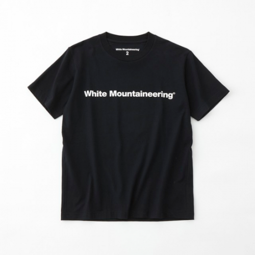 white mountaineering 【ホワイトマウンテンニアリング】 SIDE WM LOGO PRINTED T-SHIRT- BLACK (WM2171535)
