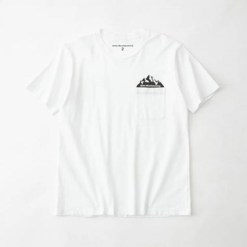 white mountaineering 【ホワイトマウンテンニアリング】 POCKET PRINTED T-SHIRT WHITE(WM2171504)