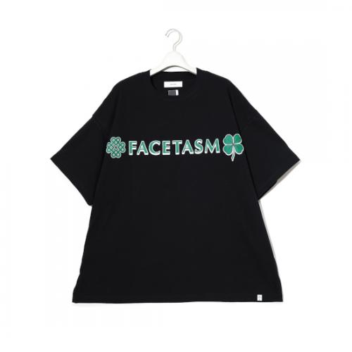facetasm 【ファセッタズム】 CLOVER BIG TEE BLACK (KG0-TE-U12)