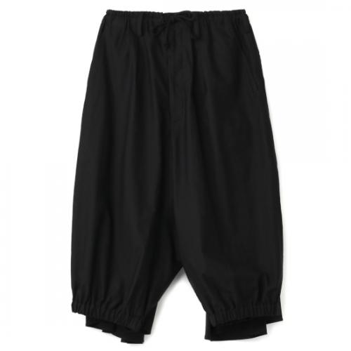 Yohji Yamamoto POUR HOMME BLACK C/TWILL CROW PANTS (HD-P62-058-1-02)