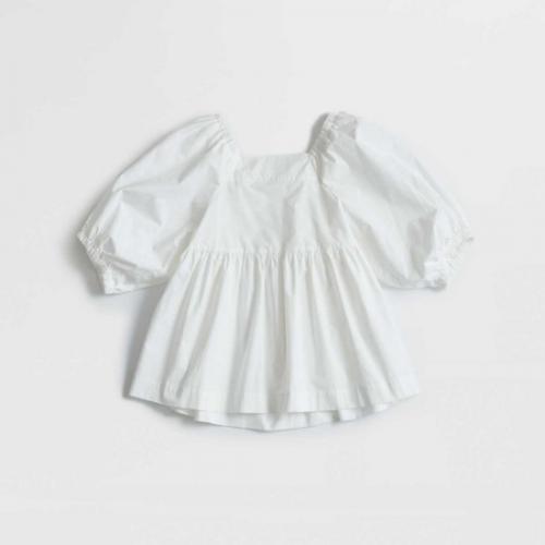 Shinzone 【シンゾーン】  SQUARE NECK BLOUSE WHITE(21MMSBL12)