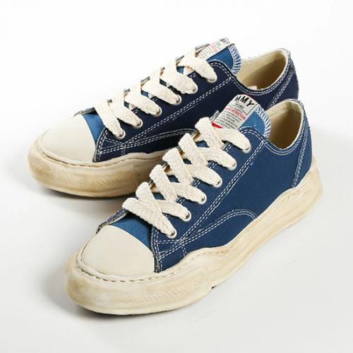 Maison MIHARA YASUHIRO 【メゾンミハラヤスヒロ】PETERSON original sole canvas Low-Top sneaker BLUE A07FW718