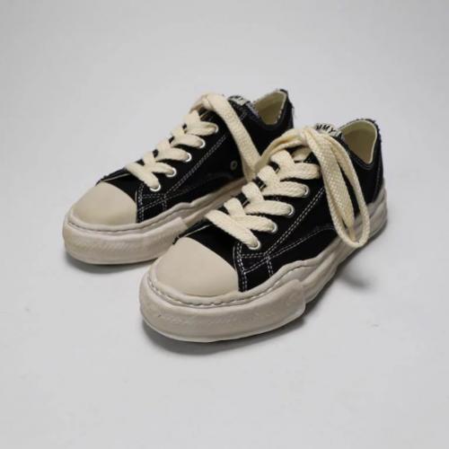 Maison MIHARA YASUHIRO 【メゾンミハラヤスヒロ】PETERSON original sole canvas Low-Top sneaker BLACK A07FW718