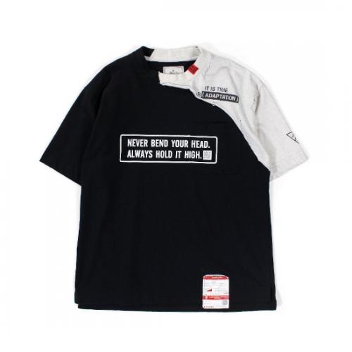 Maison MIHARA YASUHIRO 【メゾンミハラヤスヒロ】 Maison MIHARA YASUHIRO Partly Double T-shirt BLACK A06TS631