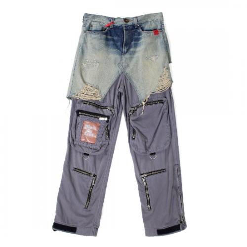 Maison MIHARA YASUHIRO 【メゾンミハラヤスヒロ】 Maison MIHARA YASUHIRO Half Military Denim Pants  NAVY A06PT021