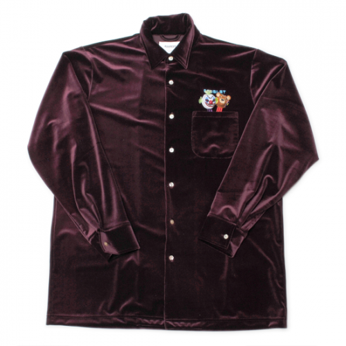 doublet【ダブレット】PUPPET EMBROIDERY VELOUR SHIRTS PURPLE 21AW16SH98