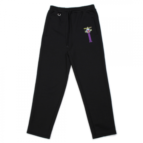 doublet【ダブレット】PUPPET EMBROIDERY SWEAT PANTS BLACK 21AW26CS193