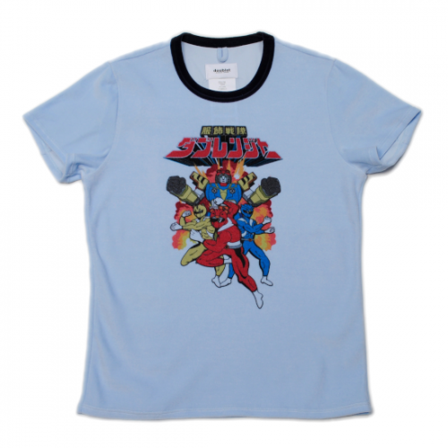 doublet【ダブレット】ANIME CHARACTER VELOUR T-SHIRT L.BLUE 21AW22CS200