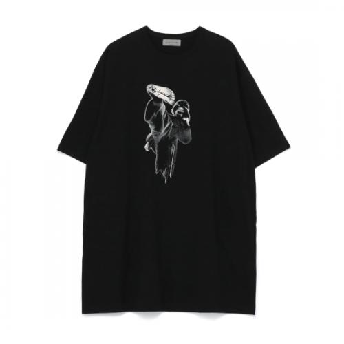 Yohji Yamamoto POUR HOMME 30/-COMBED PLAIN STITCH ORIGINAL PRINT BIG HALF SLEEVES