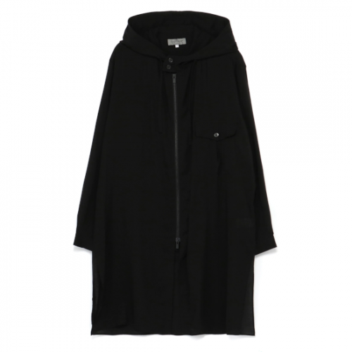 Yohji Yamamoto POUR HOMME CELLULOSE LAWN HOODED BLOUSE