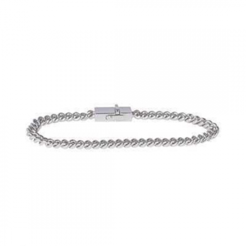 TOM WOOD/トムウッド Rounded Curb Bracelet Thin 925 Silver 7.0/7.7(B01048NA01S925)