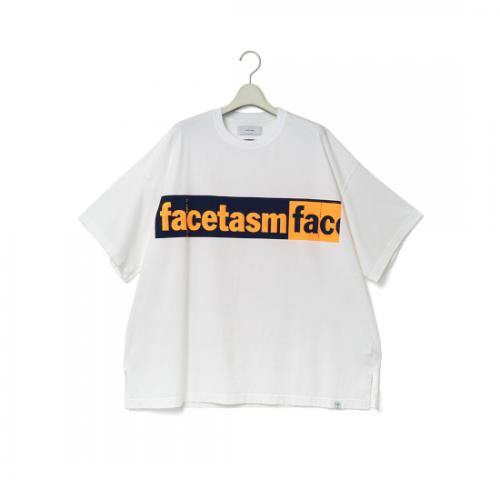facetasm 【ファセッタズム】 LOGO PRINT BIG TEE WHITE (CSW-TE-U03)