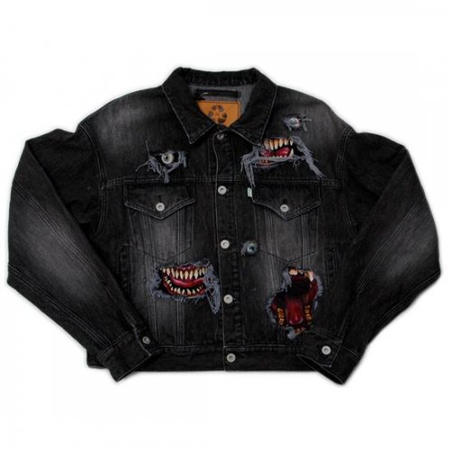 doublet【ダブレット】RECYCLE DENIM MONSTER REPAIR JACKET BLACK 21AW11BL125