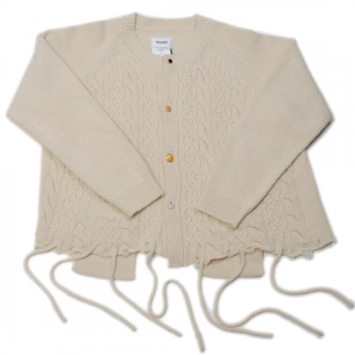 doublet【ダブレット】 RECYCLE WOOL CABLE CARDIGAN IVORY 21AW35KN56