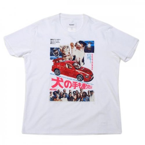 doublet【ダブレット】RETRO POSTER EMBROIDERY T-SHIRT WHITE 21AW24CS196