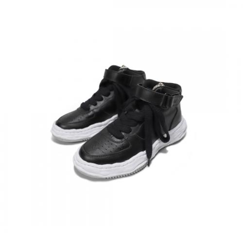 Maison MIHARA YASUHIRO 【メゾンミハラヤスヒロ】WAYNE OG Sole Leather High-top Sneaker BLACK  A07FW701