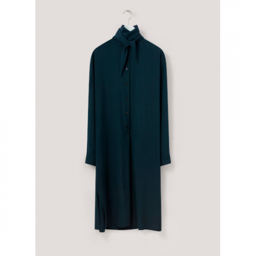 LEMAIRE 【ルメール】 TIE NECK DRESS MIDNIGHT GREEN  (WW 213 DR412 LF634)