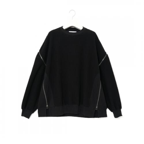 FACETASM 【ファセッタズム】 FLEECE ZIPPER SWEAT BLACK (CSW-SW-M07)