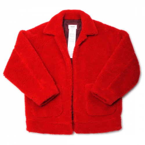 doublet【ダブレット】HAND-PAINTED RECYCLE FUR JACKET RED(21AW04BL123)