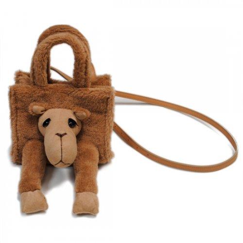 "doublet【ダブレット】STUFFED ANIMAL FUR BAG ""S"" CAMEL (21AW05BG29)"