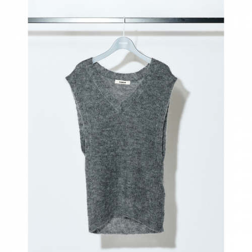 RUMCHE 【ラム・シェ】 Mohair Knit Vest / gray R21A10701-71