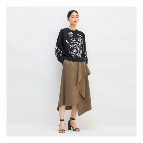 AKIRA NAKA【アキラナカ】 Dana graphic knit PO BK(AP2160-BK)