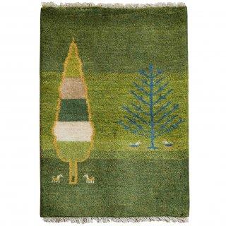 糸杉と糸杉と<br>ギャッベ<br>90×61cm<br>【送料無料】