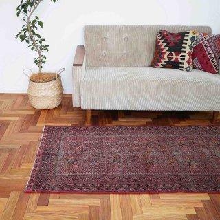 ダンディな雰囲気の還暦絨毯<br>トルクメン<br>190×87cm<br>【送料無料】
