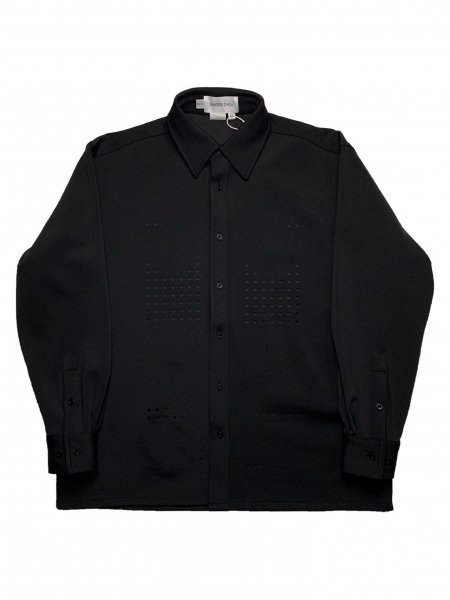 Long Sleeves Shirt With Laser Cut Pattern