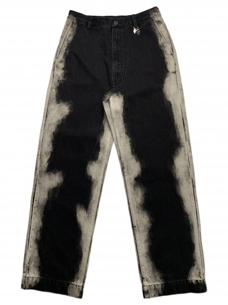 Trousers In Washed Effect Denim