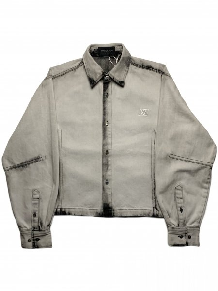 Long Sleeves Shirt In Washed Effect Denim