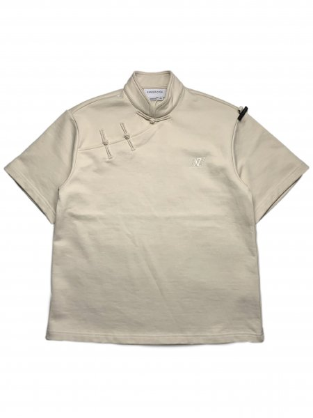 Jersey T-Shirt With Side Buttons Detail