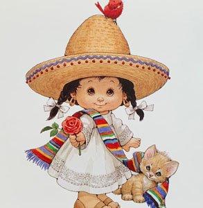 メキシコの女の子<br>プリントのみ5枚セット