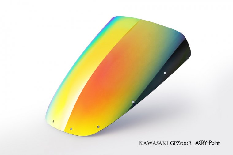 Kawasaki GPZ900Rミラースクリーン