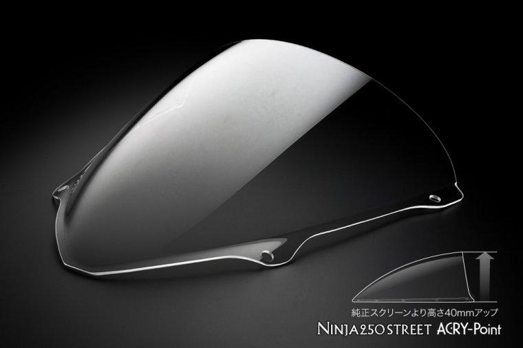 Kawasaki  08-12 Ninja250R クリアスクリーン