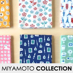 【MIYAMOTO COLLECTION】レトロ小紋手ぬぐい