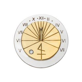 K18WGYG/ダイヤモンド/ラペルピン SUN DIAL. lapel pin