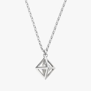 K18WG/1.0ctダイヤモンド原石/ネックレス RAW DIAMOND