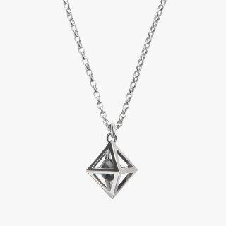 K18WG/1.0ctブラックダイヤモンド原石/ネックレス/RAW DIAMOND