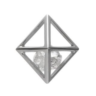K18WG/ダイヤモンド原石/ラペルピン RAW DIAMOND lapel pin