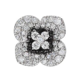 K18WG/ダイヤモンド/ラペルピン FLOWER lapel pin/BOUTONIERE