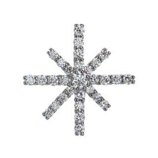 K18WG/ダイヤモンド/ラペルピン SNOW CRYSTAL lapel pin